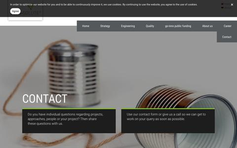 Screenshot of Contact Page tech-solute.de - tech-solute - The idea motor - Contact - captured Oct. 18, 2018