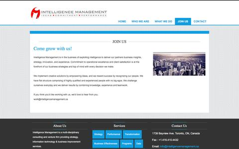 Screenshot of Signup Page intelligencemanagement.ca - Intelligence Management - captured Jan. 9, 2016