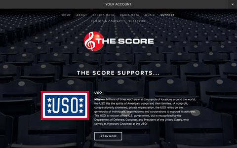 Screenshot of Support Page thescore.us - Support — The Score - captured Nov. 17, 2017