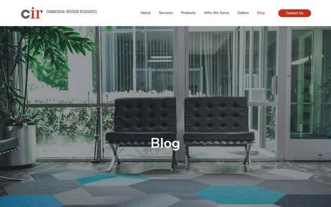 Screenshot of Blog cir-resource.com - Blog - Commercial Interior Resources - captured Dec. 15, 2018
