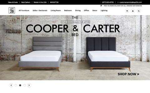 Screenshot of Home Page apt2b.com - Affordable Modern Furniture & Home Furnishings APT2B.com – Apt2B - captured Feb. 7, 2016