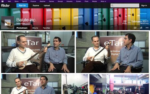 Screenshot of Flickr Page flickr.com - Flickr: Balute's eTar's Photostream - captured Oct. 23, 2014