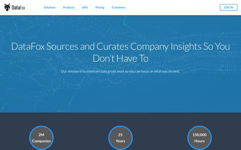 DataFox | Intelligent Data For Your CRM