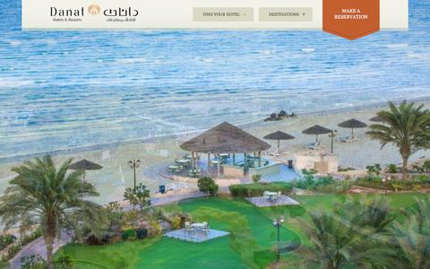 Screenshot of Home Page danathotels.com - Danat Hotel & Resorts | Luxury Hotels & Resorts United Arab Emirates | OFFICIAL SITE - captured Oct. 25, 2015