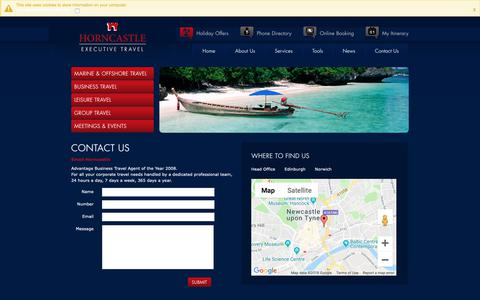 Screenshot of Maps & Directions Page horncastle.co.uk - Horncastle Executive Travel :: Directions - captured Sept. 29, 2018