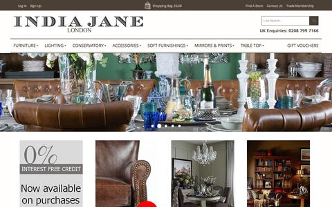 Screenshot of Home Page indiajane.co.uk - India Jane -  Home page - captured Sept. 30, 2014