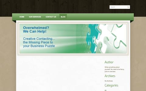 Screenshot of Blog creativecontacting.com - Creative Contacting - Blog - captured Sept. 30, 2014
