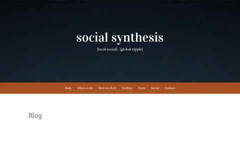 Screenshot of Blog social-synthesis.com - Blog | social synthesis - captured Jan. 12, 2016