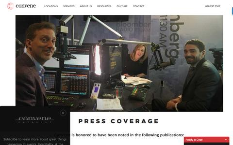 Screenshot of Press Page convene.com - Press Page - Convene - captured Aug. 16, 2016