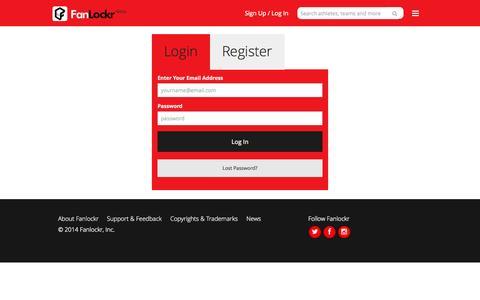 Screenshot of Login Page fanlockr.com - Fanlockr |  Gear Up Like a Pro - captured Oct. 8, 2014