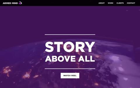Screenshot of Home Page makebelieve.com - Armed Mind — Make Believe | Made Believable - captured July 8, 2016