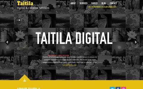 Screenshot of Home Page taitila.com - Digital Publishing Solutions | E-Publishing Companies – Taitila - captured Jan. 29, 2015