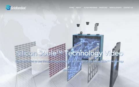 Screenshot of Home Page gridtential.com - Gridtential Energy, Inc. | - captured Aug. 11, 2015
