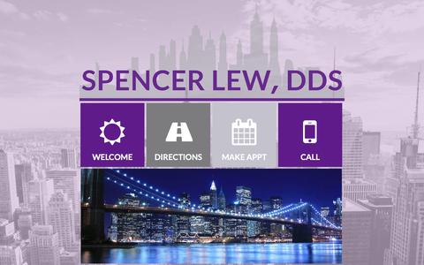 Screenshot of Home Page nycdental.com - Spencer Lew DDS, PLLC - captured July 2, 2018
