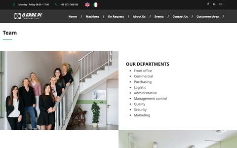 Screenshot of Team Page oerrepi.com - O.ERRE.PI   Team - captured Nov. 16, 2018