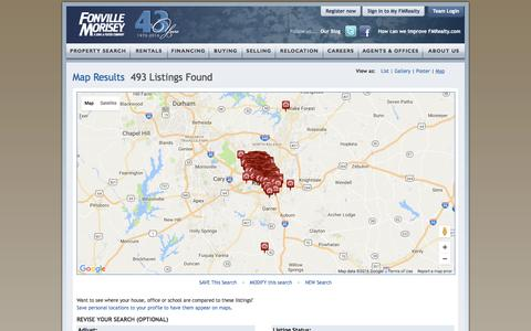 Screenshot of Maps & Directions Page fmrealty.com - Raleigh Durham Real Estate Interactive Map | Fonville Morisey Real Estate - captured Nov. 26, 2016