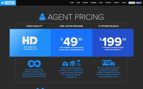 Screenshot of Pricing Page onvedeo.com - Video Marketing For All. The Most Advanced Video Ads Engine - Onvedeo - captured Oct. 26, 2014
