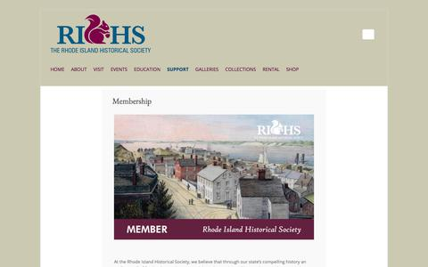 Screenshot of Signup Page rihs.org - Membership - Rhode Island Historical Society - captured Nov. 15, 2017