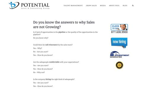 Sales Not Growing? – Potential Sales and Consulting Group