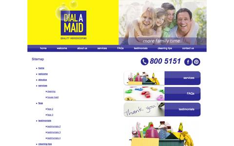 Screenshot of Site Map Page dialamaid.ae - Sitemap - Dialamaid.ae - captured Sept. 30, 2014
