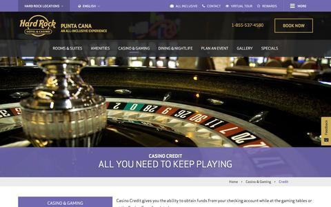 Casino Credit at Hard Rock Casino Punta Cana