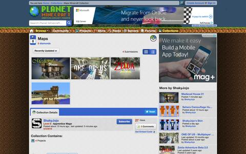 Screenshot of Maps & Directions Page planetminecraft.com - Maps Minecraft Collection - captured May 4, 2016