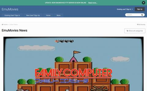 Screenshot of Press Page emumovies.com - EmuMovies News - EmuMovies - captured July 19, 2018