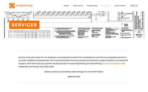 Screenshot of Services Page simpleray.com - Services Ń Simpleray - captured Nov. 26, 2015