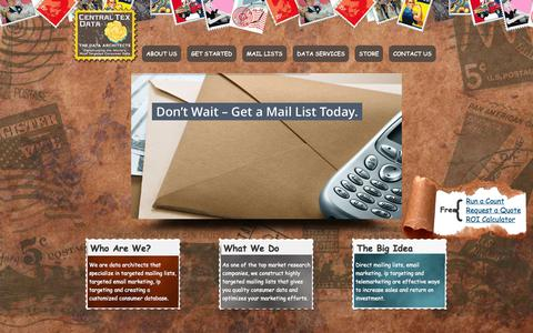 Screenshot of Home Page centraltex-data.com - Targeted Mailing Lists | Central Tex Data - captured July 19, 2015