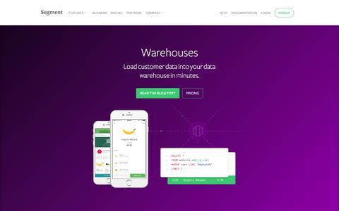 Load customer data into Redshift or Postgres | Segment