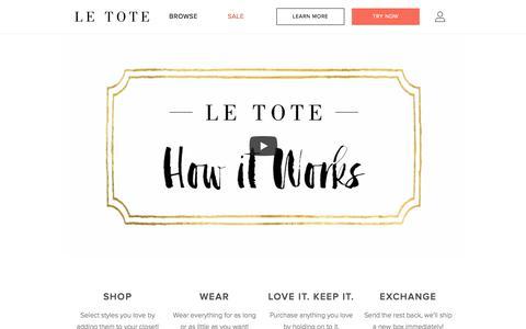 Screenshot of letote.com - How it Works - Le Tote - captured Sept. 30, 2017