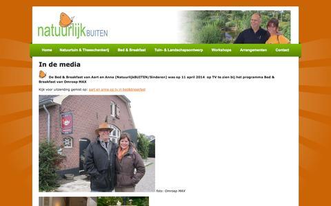 Screenshot of Press Page natuurlijkbuiten.nl - NatuurlijkBUITEN in de media - captured Oct. 27, 2014