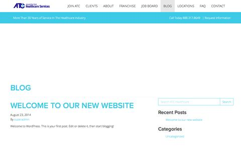 Screenshot of Blog atchealthcare.com - Blog » ATC Healthcare - captured May 28, 2017