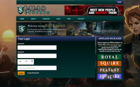 Screenshot of Login Page mmocashout.com - User Login | MMO Cashout - captured Oct. 31, 2014