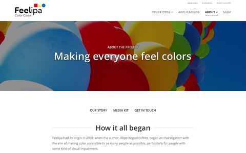 Screenshot of Contact Page feelipa.com - About • Feelipa Color Code - captured Nov. 3, 2014
