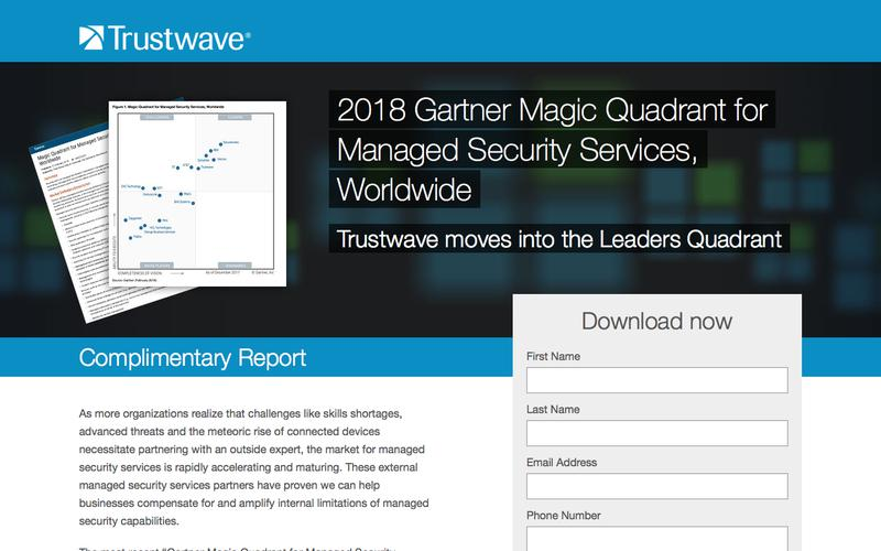 2018 Gartner Magic Quadrant for Managed Security Services, Worldwide