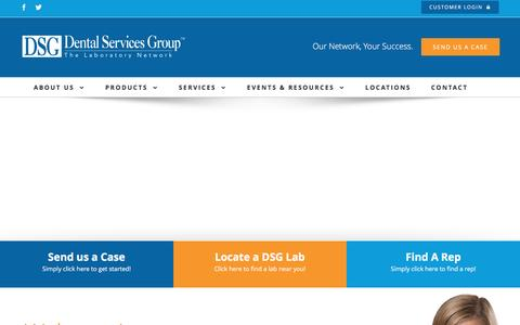 Screenshot of Home Page dentalservices.net - DSG Home - Dental Services Group - captured Nov. 24, 2016