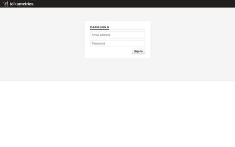 Screenshot of Login Page teikametrics.com - teikametrics - captured Oct. 26, 2014