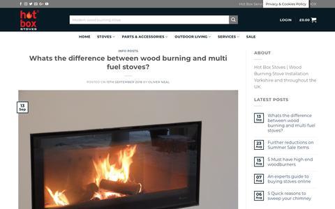 Screenshot of Blog hotboxstoves.co.uk - Blog Hot Box Stoves   The Latest news about wood burning stoves online - captured Sept. 30, 2018