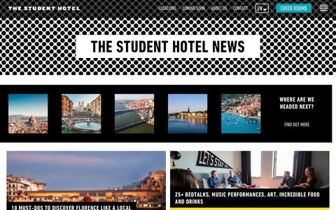 Screenshot of Press Page thestudenthotel.com - The Student Hotel: News and Blog - captured July 21, 2019