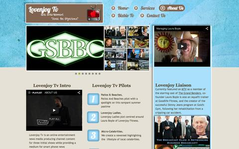 Screenshot of About Page Privacy Page lovenjoy.tv - Shows - captured Oct. 23, 2014