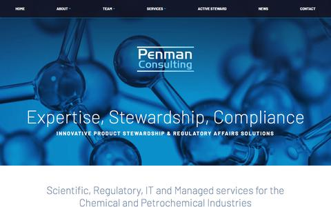 Screenshot of Home Page penmanconsulting.com - Homepage - Penman Consulting - captured July 16, 2018