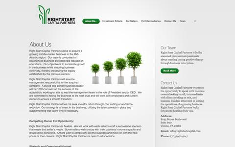 Screenshot of About Page rightstartcapital.com - About Us | Right Start Capital Partners - captured Oct. 7, 2014