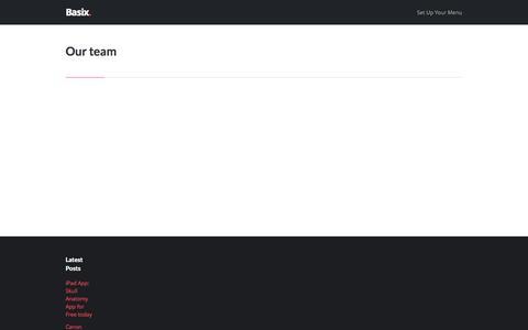 Screenshot of Team Page ozitect.com - Our team – OziTect - captured Oct. 7, 2014