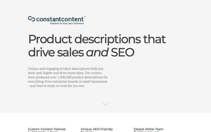 Constant Content - Product Description Writing Service