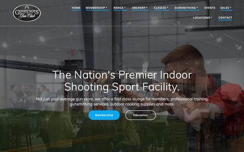 Screenshot of Home Page governorsgunclub.com - The Nation's Premier Indoor Shooting Range & Gun Store - Governors Gun Club - captured July 22, 2018