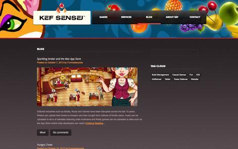 Screenshot of Blog kefsensei.com - KefSensei Studios   Fun Masters - captured Sept. 30, 2014