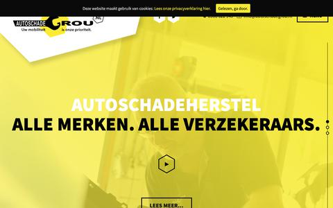Screenshot of Home Page autoschadegrou.nl - Home - Autoschade Grou - captured Oct. 4, 2018
