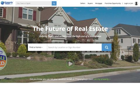 Screenshot of Home Page propertyguys.com - Sell Your House and Pay Yourself the Commission - PropertyGuys.com - captured Jan. 27, 2016