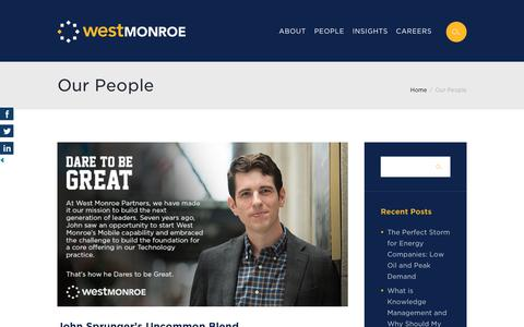 Screenshot of Team Page westmonroepartners.com - Our People Archives - Page 2 of 12 - The Blend: A West Monroe Partners Blog - captured March 21, 2018